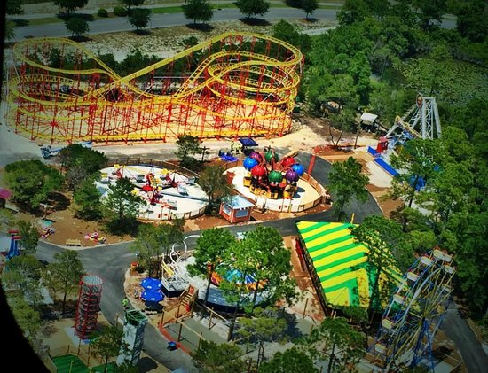 Miracle Strip Amut Park Aerial View Of North End