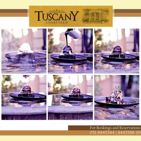 Tuscany Courtyard: Making of Hot Fudge Skillet Brownie!