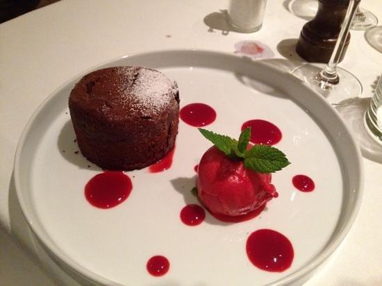 "Cafe du Marche: Chocolate ""lava"" cake"