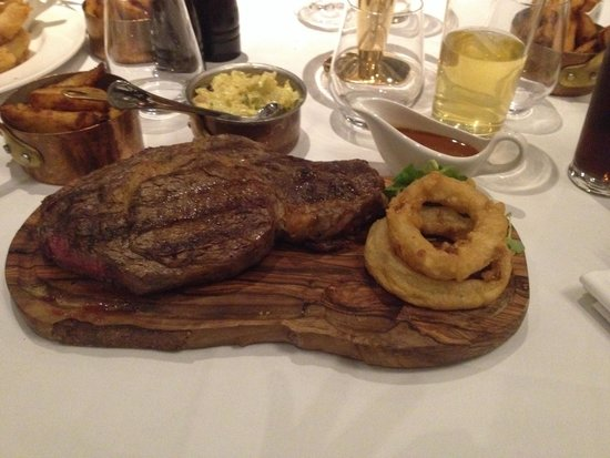 Marco Pierre White Steakhouse Bar & Grill Chester : The club steak special at mpw Chester! Probably the beat peace if red meat iv eaten, 24ozribeye