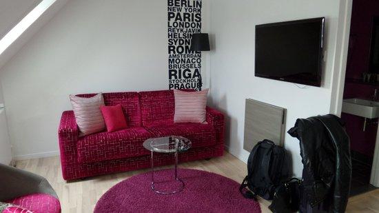 Andersen Boutique Hotel : Kleine Couch Ecke!