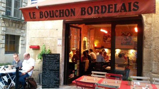 Le Bouchon Bordelais : vue de la terrasse
