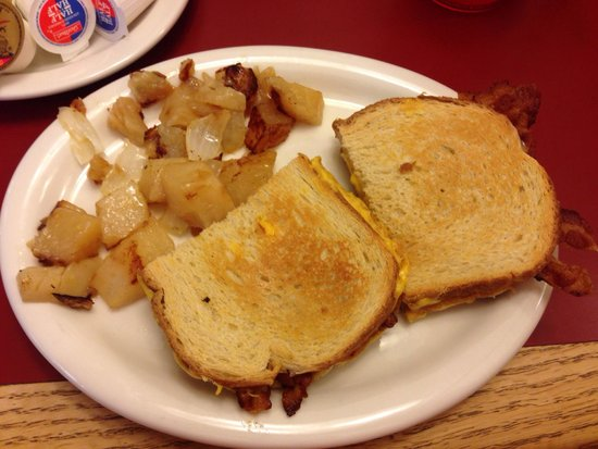 Bacon Egg And Cheese Sandwich W Hash Browns Picture Of Mayberry Ice Cream Restaurants Winston Salem Tripadvisor