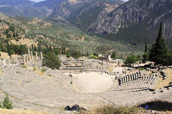 Theatre, at ruins of Delphi