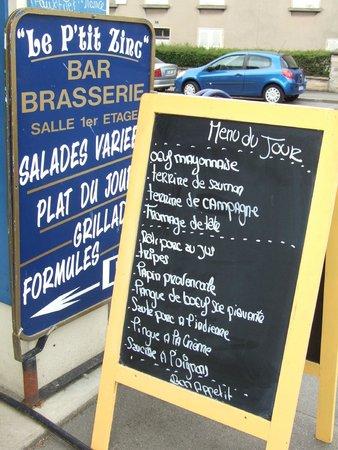 Villers-Bocage, Frankrig: The menu!