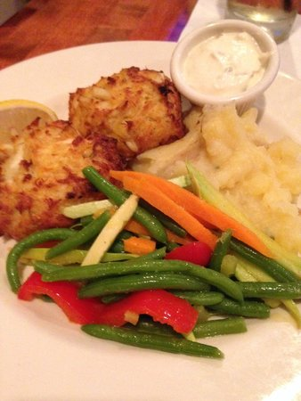 Blue Seafood and Spirits: Signature crab cakes.  Yes, please.