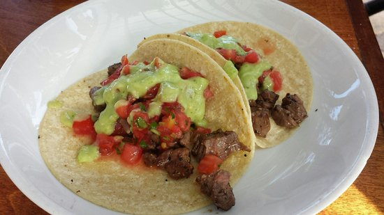 Cafe Verde: I ordered pork tacos, and this is what I received. They were good, but rather plain tasting. The