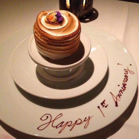Gramercy Tavern : Our free anniversary cake :)