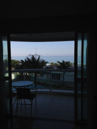 Gran Nobile Rio de Janeiro Barra: View from one of the rooms towards the front of the hotel.