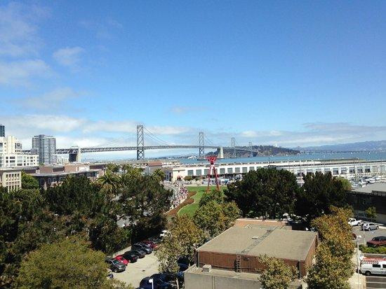 AT&T Park: Excellent view of the Bay Bridge!
