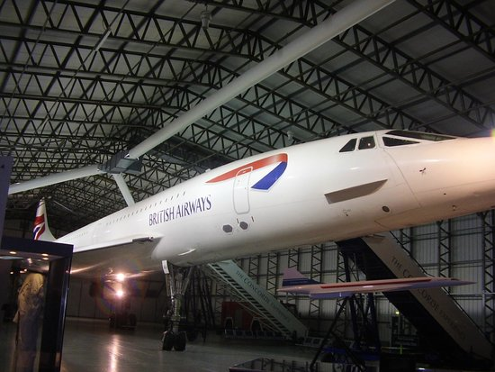my husband in concorde picture of national museum of flight