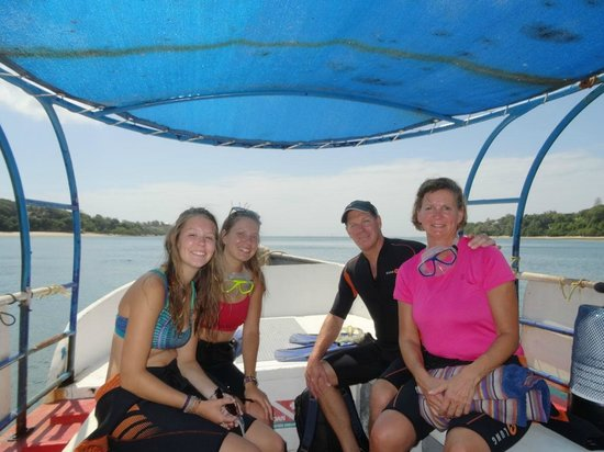 Buccaneer Diving: Heading out to dive site from Kilifi Harbour
