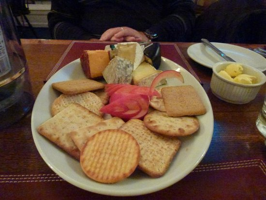 Proper Gander: a plate of Welsh cheeses with a gander
