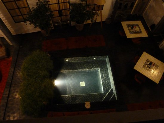 Riad la Parenthese : Patio vue de l'étage
