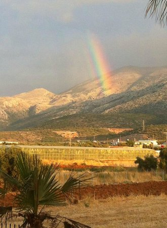 Yiannis Manos Apartments: Beautiful Double Rainbow from 1 of our balconys