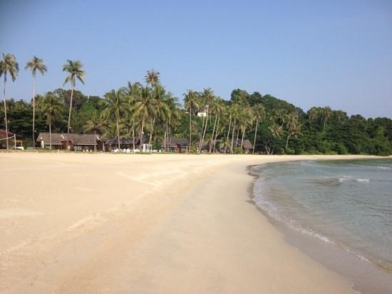 Nirwana Gardens - Mayang Sari Beach Resort : Die westlich gelegenen Chalets