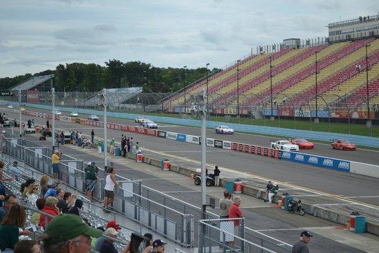 Watkins Glen International: View of main straight and pit lane.