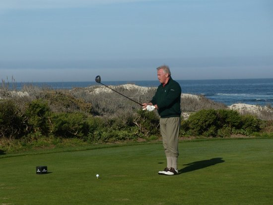 The Inn at Spanish Bay: Tee off-hole in one! Wear your PlusFour's for added distance;)