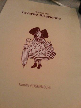 Restaurant Taverne Alsacienne : Menù