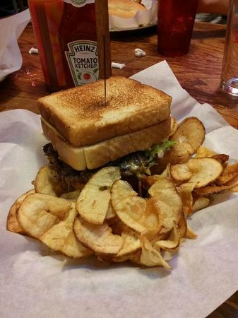 Rooster's Roadhouse: Cheeseburger (In Between 2 Grilled Cheese Sandwiches)