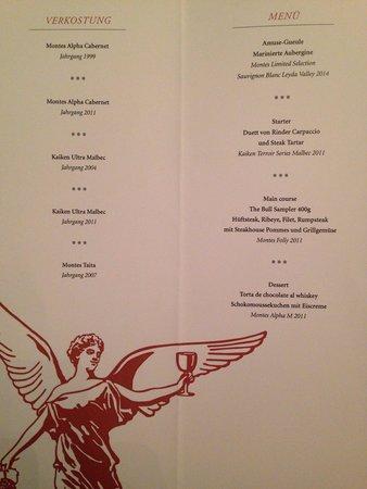 The Bull Steak Expert GmbH: Wein Verkostung 2014. Aurelio Montes Senior.