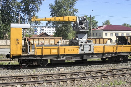 RR rail repair equipment ready for use when needed  - Picture of