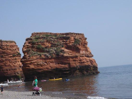 Ladram Bay Holiday Park: one of the three rocks