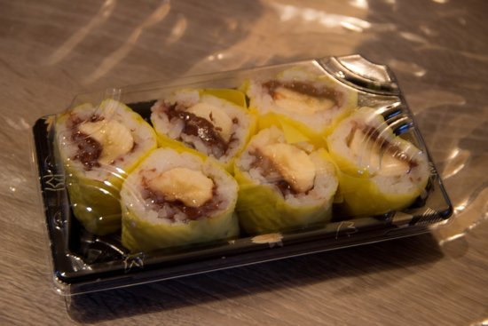 He's Sushi : Dessert : Makis Nutella Banane