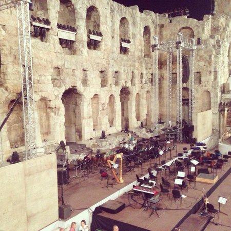 Herod Atticus Odeon : Herodio ready for concert of Philippos Pliatsikas with Prague Philharmonic Orcestra!
