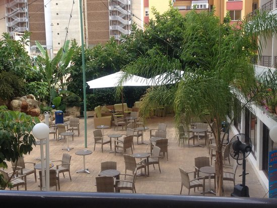 Presidente Hotel: View from balcony room 205