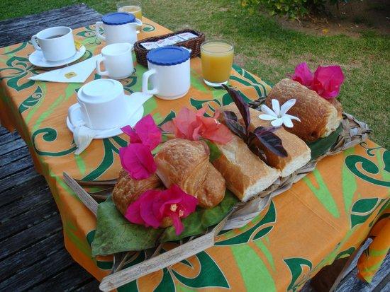 Hotel Matira : La prima colazione