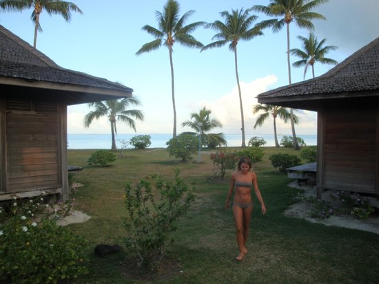 Hotel Matira : La vista dal bungalow