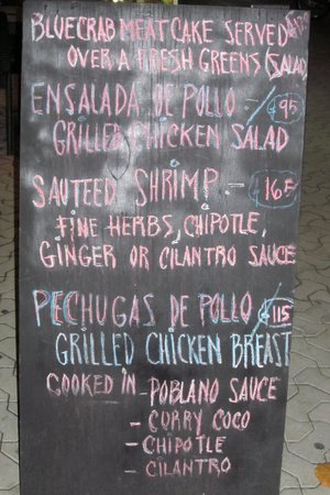 Dopi's: Daily Specials are posted on a chalkboard