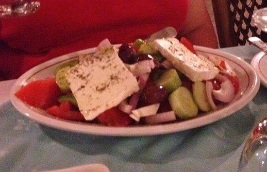 Hotel Tzaki : Greek salad at hotel