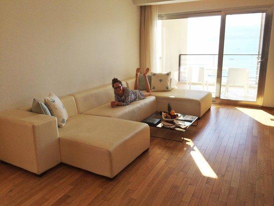 فندق كيمبنسكي العقبة: The beautiful Executive Panoramic Suite - living room