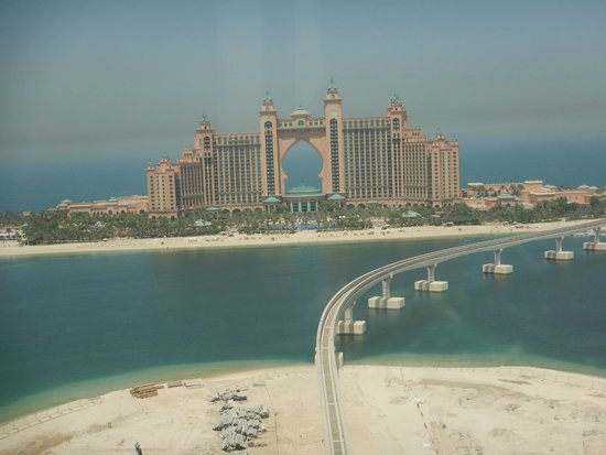 Atlantis The Palm Helicopter View Of Hotel