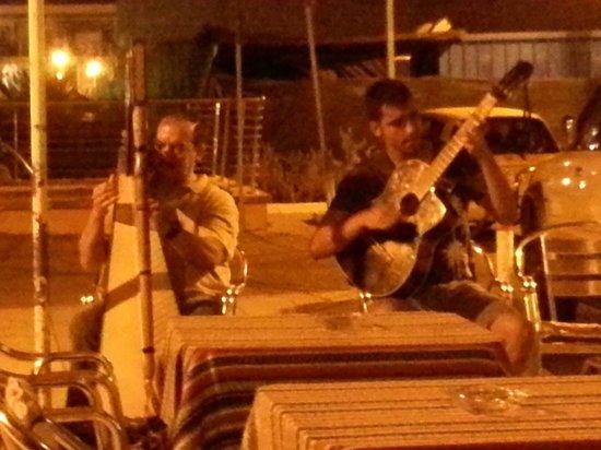Dani Bocata: The harpist and Felipe.