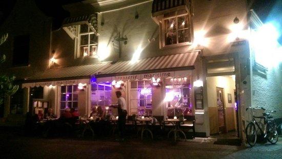 Brasserie Maritime : Gevel savonds