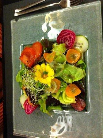 Restaurant de La Chaux-d'Abel : Bella insalatina con ottimo condimento
