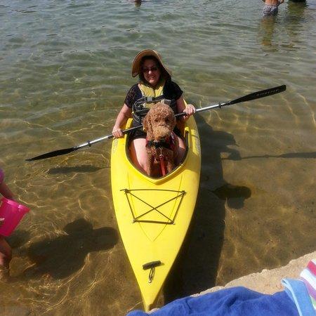The Naswa Resort : kayaking with Ruby