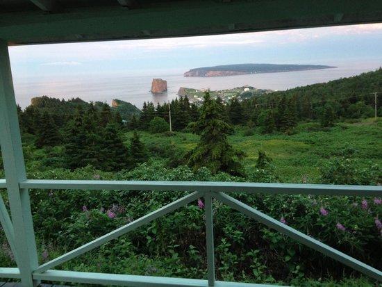 Perce Au Pic de l'Aurore: View from the porch