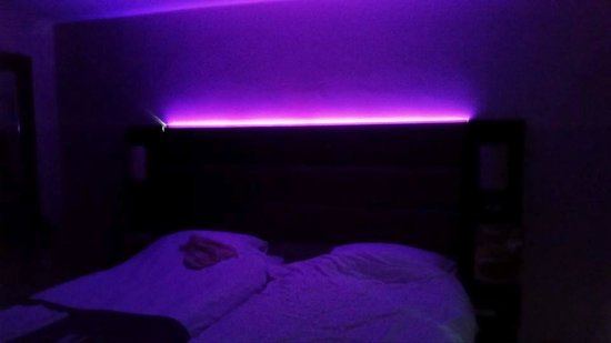 Purple Lighting Above Bed Picture Of Premier Inn Northwich