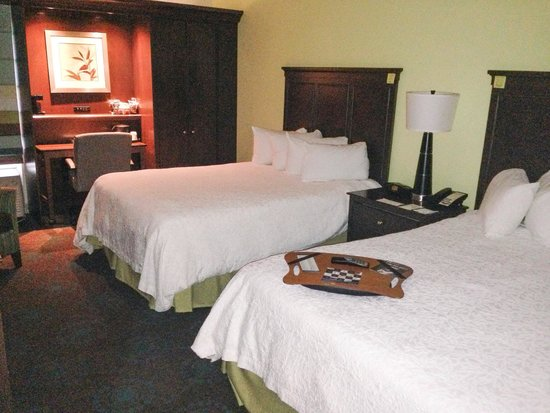 Hampton Inn & Suites Newport News (Oyster Point): Twin bed