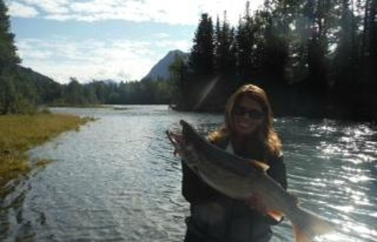 Eagle Landing Resort: Silver Salmon on The Kenai