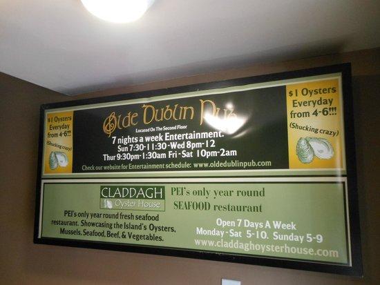 Olde Dublin Pub: Both restaurants in the same building, different kitchens, same owner