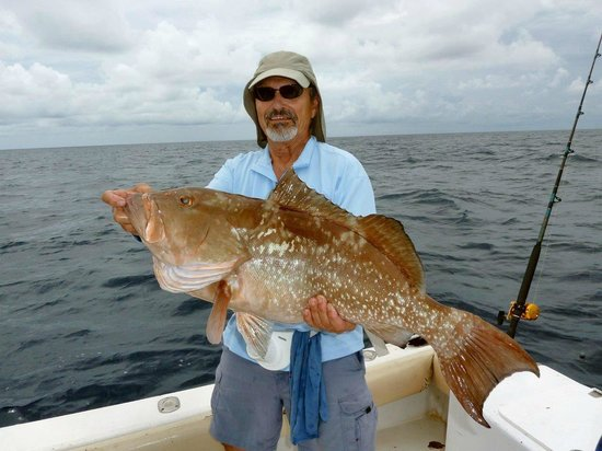 Another Keeper Charters: 33' red grouper caught on Captain Tom's 'Another Keeper'