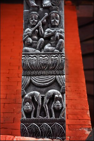 Nepali Temple (Kathwala Temple) : Details of carvings.