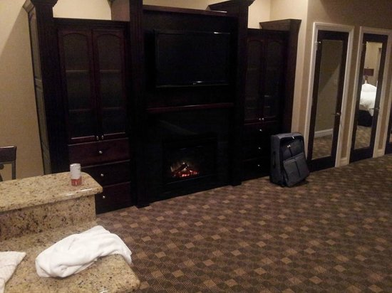 Camden on the Lake Resort, Spa, & Yacht Club: The living area with fireplace and t.v.