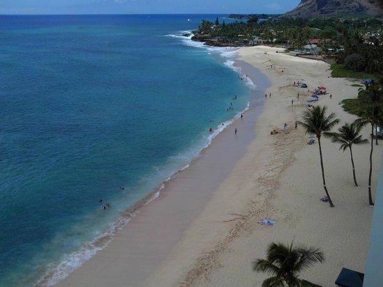 Hawaiian Princess Resort: view from 10th floor lanai