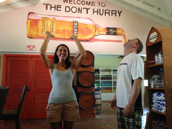 Cruzan Rum Distillery: good times!